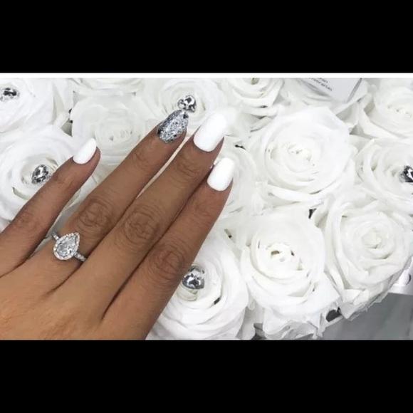 impress Other | Nails White Silver Glitter Love Hearts | Poshmark